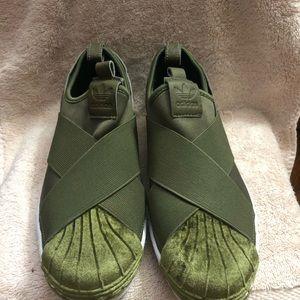 Addias slipon sneakers size 6 1/2 women's